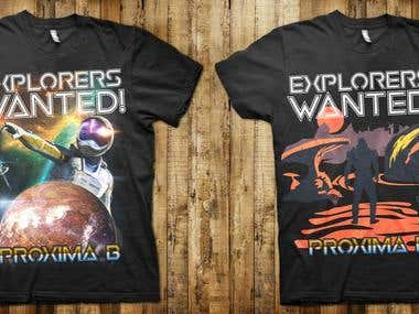 Explorers wanted! T-shirt design