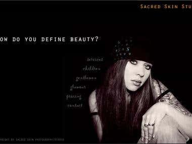 Sacred Skin Website