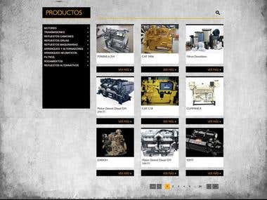 "Website developed for ""Repuestos Lencina"""