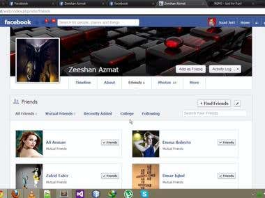 All friends page