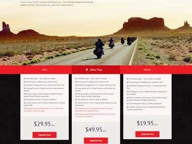 Road America HOG Landing Page