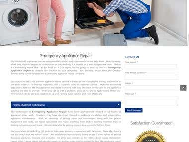 Emergency Appliance Repair Website