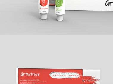 Innovative Packaging Design For Acrylic Paint Tubes