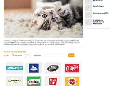Pet Care for this major leading brand 2006