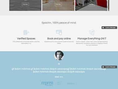 Space renting website