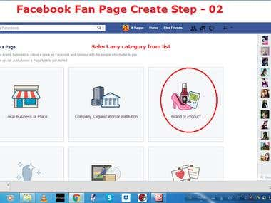 Demo Project of Facebook Fan Page Create