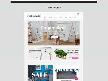 Cuckooland webdesign
