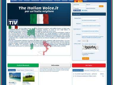 http://theitalianvoice.it/  (Socialengine)