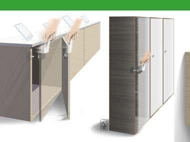 Technical illustrations for PS Locks