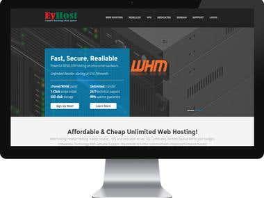 EyHost- Hosting Company Website