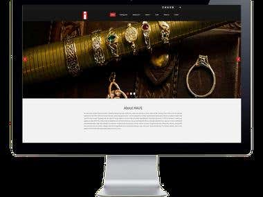 HAUS- A local jewelry shop website