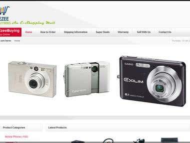 Developed ECommerce website