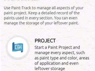 Paint Track App
