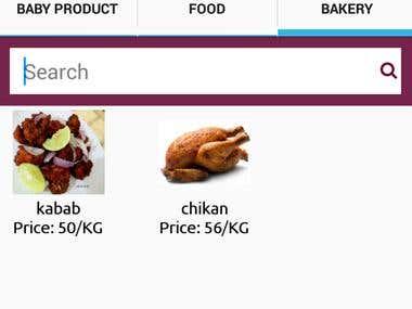 Online grocery App