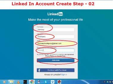 Demo Project on LinkedIn account create.
