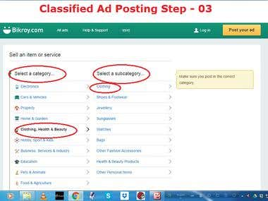 Demo Project on Classified Ad posting & Craiglist