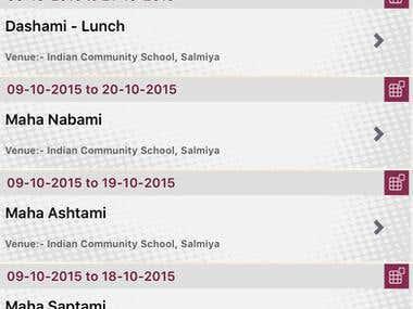 Bengal Cultural Society (Kuwait) . Event Management App
