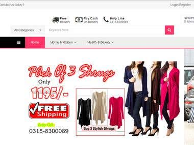 ECommerce MrYes Website
