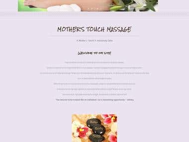 Wordpress Service Website - A Mother's Touch Massage