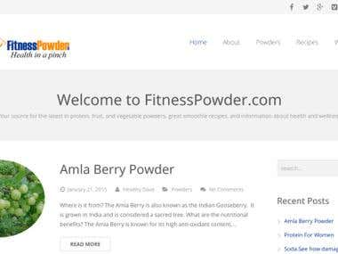 Fitness Powder - Wordpress Health Website