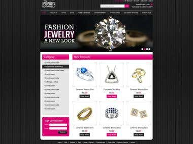 Jewelry ECommerce Website