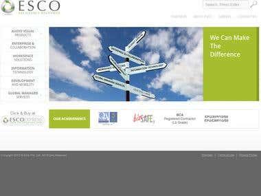 Design and Development of Esco Website
