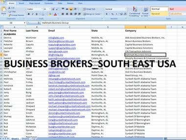 Business Brokers data Entry