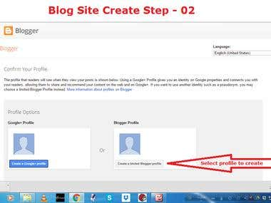 Demo Project on Blog Site Creating