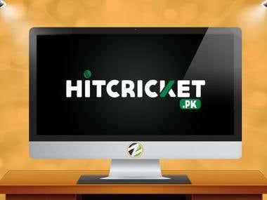 Hit Cricket Logo design