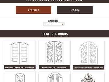 IRON DOOR WORKS Website Design