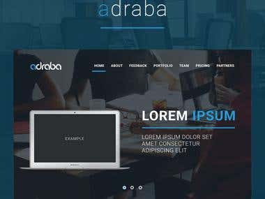 "Site for IT company ""Adraba"""