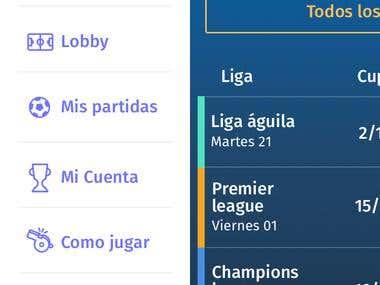 Soccer betting app