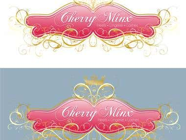 "Different glamourous logos for ""Cherry Minx"""