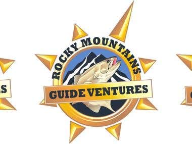 Rocky Mountains Guide Ventures illustrated logo