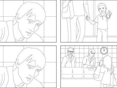 Storyboard for a short film