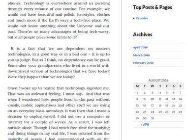 Articles, Blogging