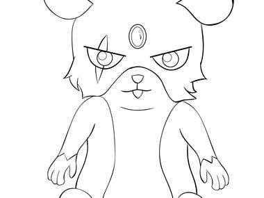 Hamster Character Design