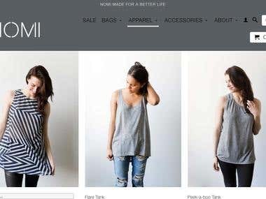 An Online Clothing Store