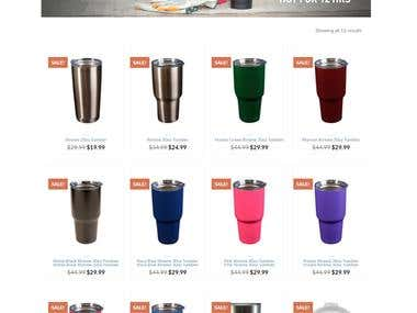 E-commerce Website for Tumblers