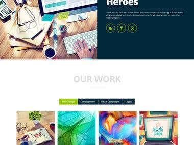 One Page Fully  Responsive WebSite