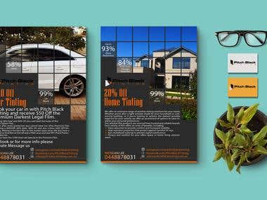 Flyer for a Window Tinting Company