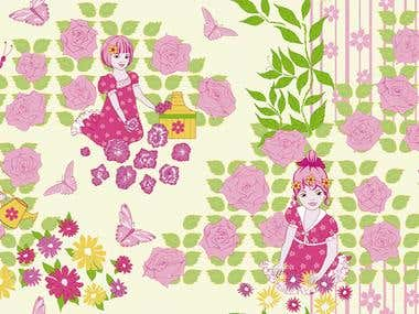 Garden, Duvet cover design for Neotek