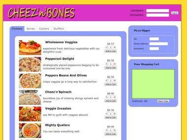 Selling pizza online