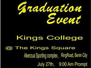 a simple graduation card.