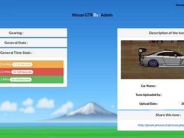 PixelCarTune.Club Community and tunes sharing system