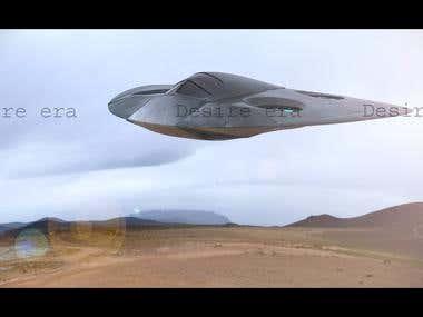 3d concept air craft.