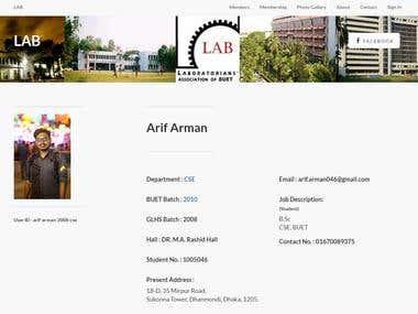 Laboratorians Association of BUETians official site