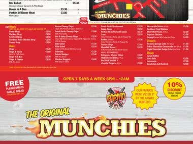 Restaurant Menu Design - The Original Munchies