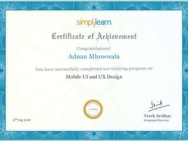 UI UX Certificate