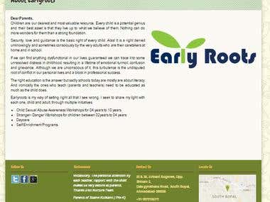 Website for Early Roots Nurture